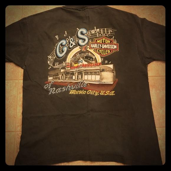 Harley Davidson Nashville >> Vintage Harley Davidson Nashville Tn Tee